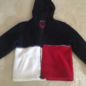 Tommy Girl Red White And Blue Teddy Jacket